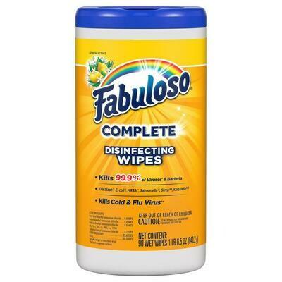 Fabuloso Wipes, Lemon (4 pack)