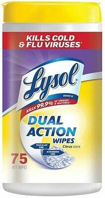 Lysol Citrus Scent Dual Action Wipes (6 pack)