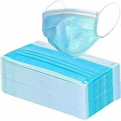 Disposable Surgical Mask, Blue (50 pack)