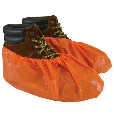 ShuBee Waterproof Shoe Covers, Orange (40 pair)
