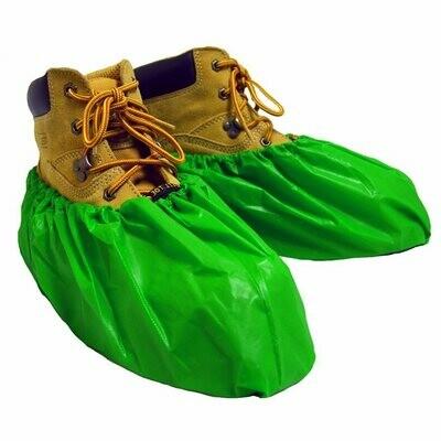 ShuBee Waterproof Shoe Covers, Green (40 pair)