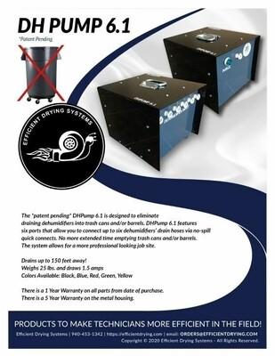 EDS Dehumidifier Pump-Out Box (Blue)