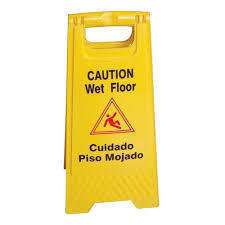 Folding Caution Sign - Standard Version