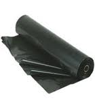 Poly Sheeting Roll, 6 Mil, 20x100, Black