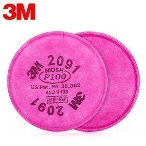 3M 2091 P100 Pancake Cartridge (2 pack)