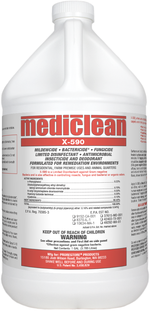 Mediclean X-590 Institutional Spray (Gal.)