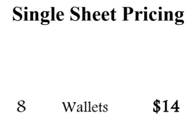 Single Sheet I   8 - Wallets