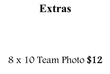 8 x 10 Team Photo - O