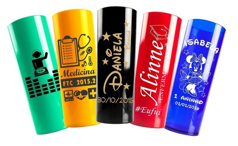 Kit Copos Long Drinks Personalizados com 10 und