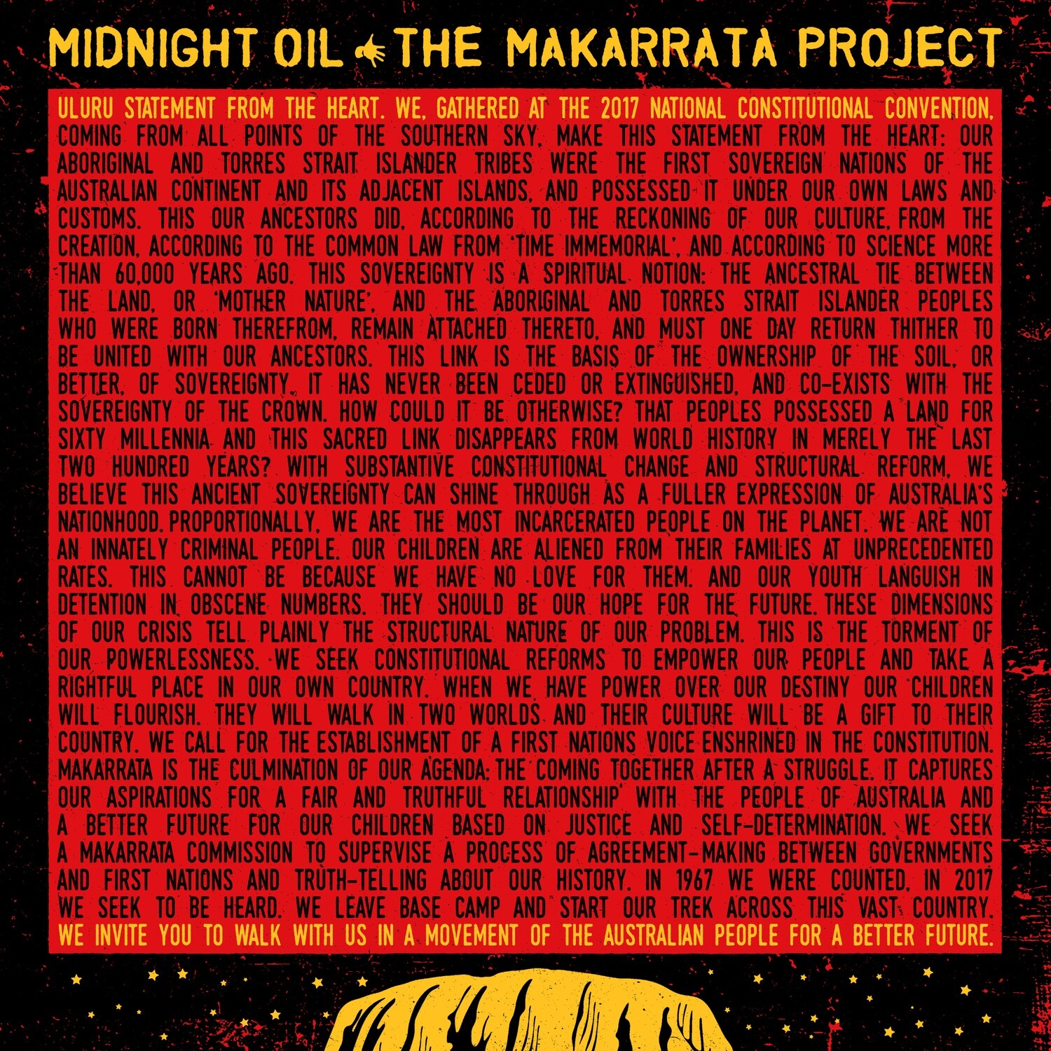 Midnight Oil - The Makarrata Project (Yellow) [LP] PRE-ORDER