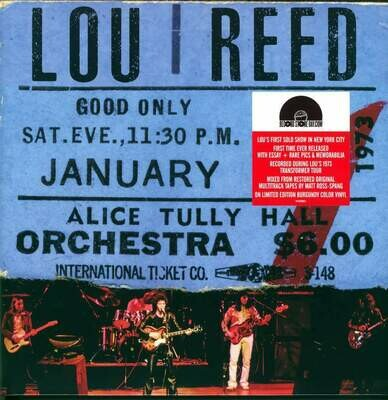 Lou Reed - Live At Alice Tully Hall (Burgundy) [2LP]