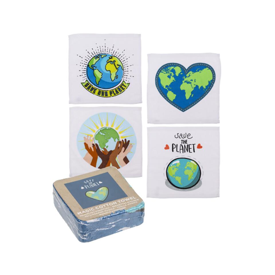 Μαγική Πετσέτα Save the Planet 30x30cm
