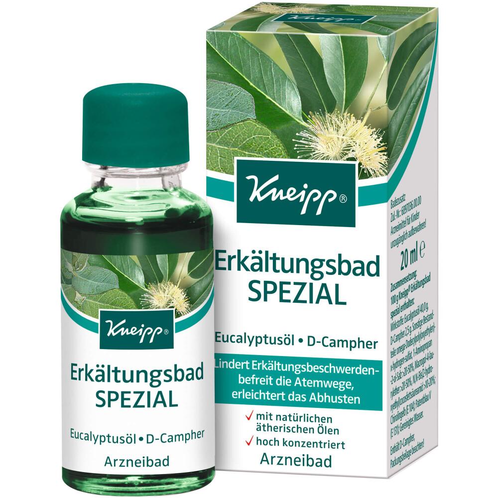 Ειδικό Αιθέριο Έλαιο της Kneipp® για Ζεστό Λουτρό με Ευκάληπτο και Καμφορά