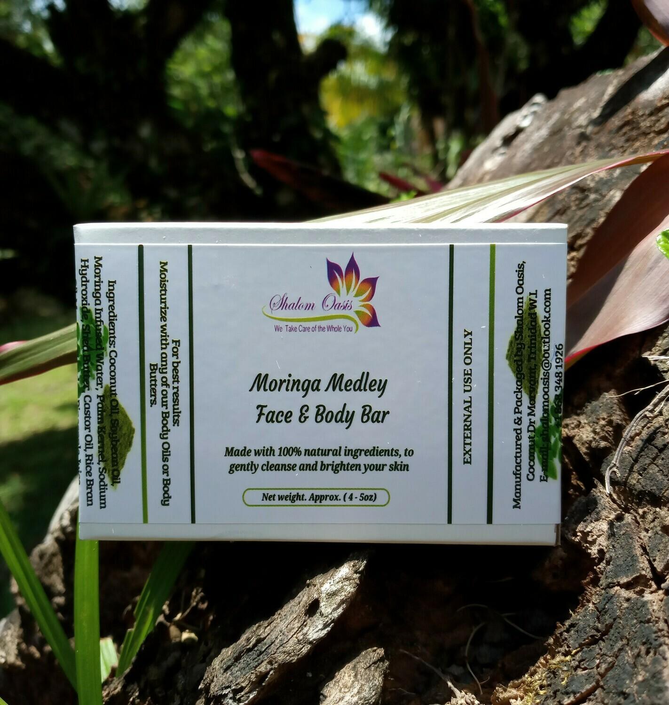 Moringa Medley Face & Body Bar