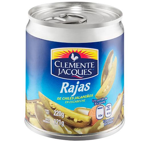 Chiles jalapenos enteros 220 Gr