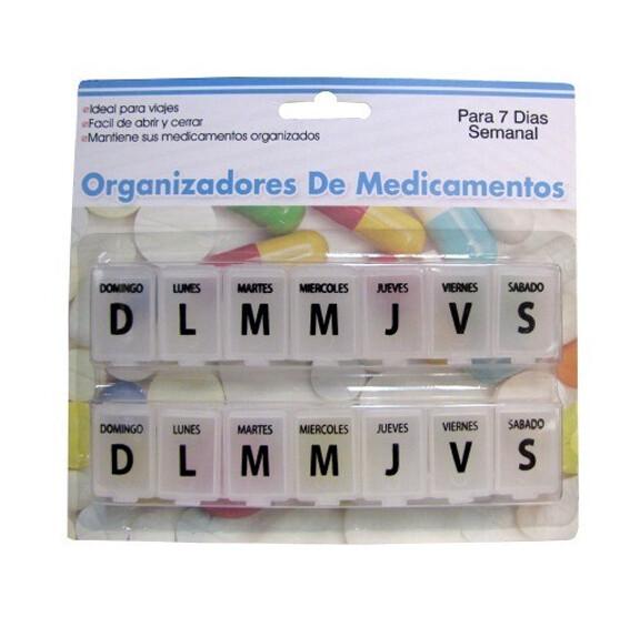 Organizador de pastillas