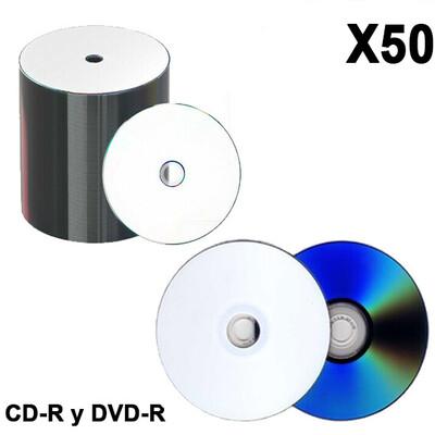 CD y DVD Grabable (50 undidades)