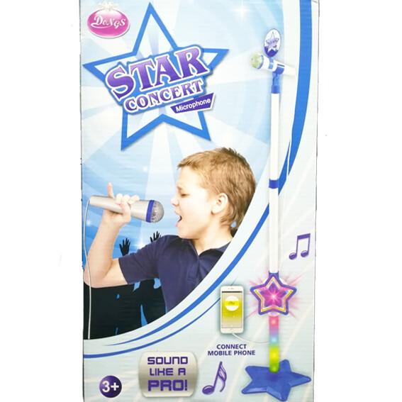 Microfono con pedestal