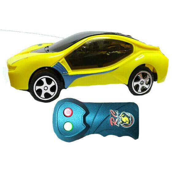 Carro deportivo control remoto amarillo