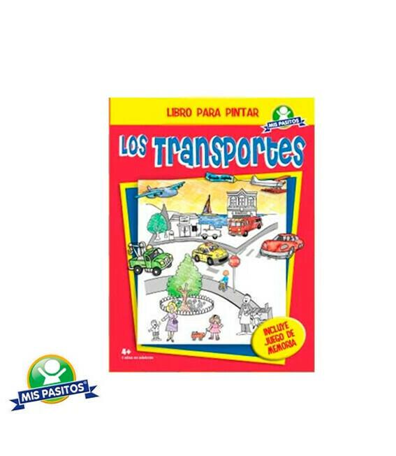Libro pintar Los transportes + Memoria