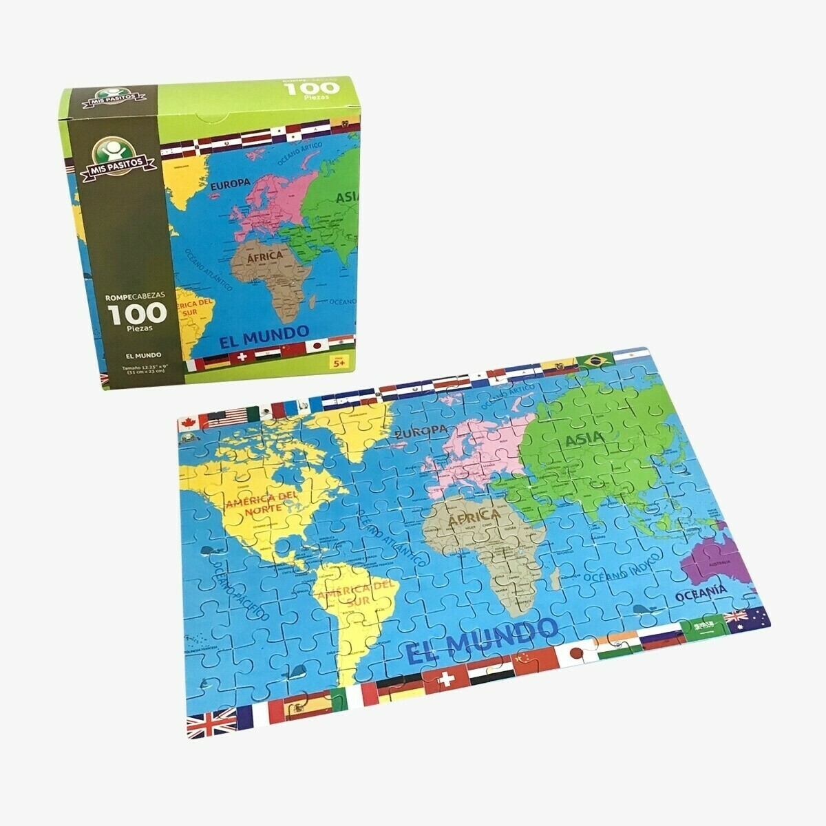 Rompecabezas 100  Piezas - El Mundo