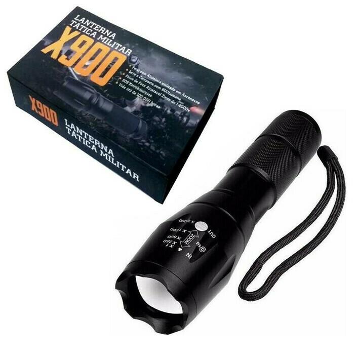 Linterna LED Tactica Militar Recargable