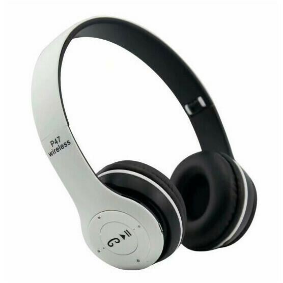 Audifonos Bluetooth SD + FM Blanco