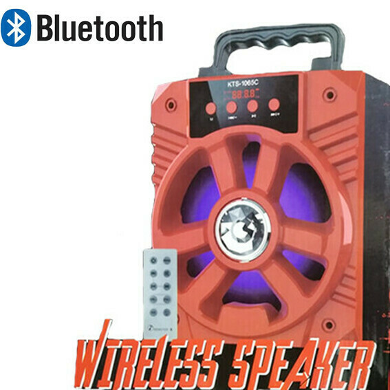 Bocina Bluetooth Fm+SD+USB 15W Roja