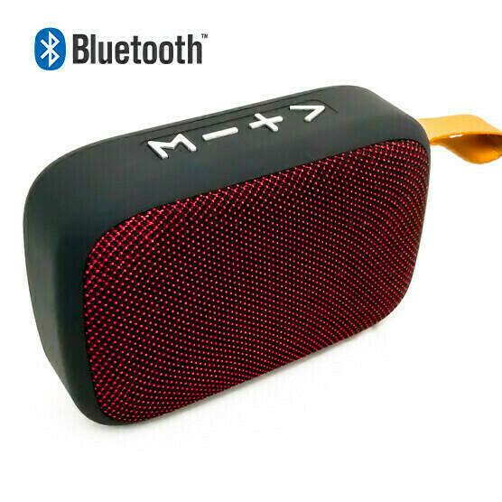 Bocina Bluetooth Micro SD Roja