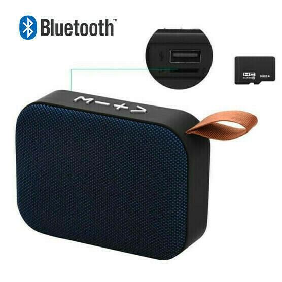 Bocina Bluetooth Micro SD Azul