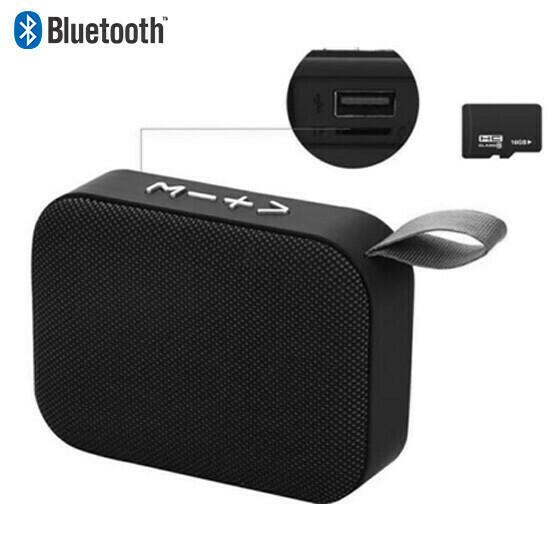 Bocina Bluetooth Micro SD  Negra