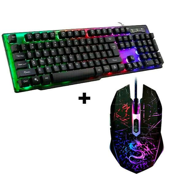 Teclado Gaming + Mouse 3200dpi