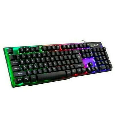 Teclado Gaming Tricolor USB