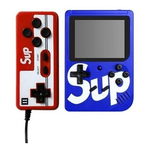 Consola Retro 400 Juegos + Control - Azul