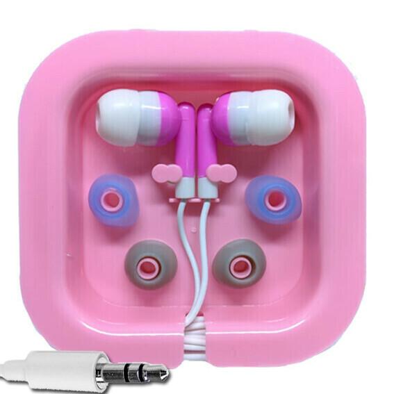 Audifonos Stereo + Estuche - Rosado