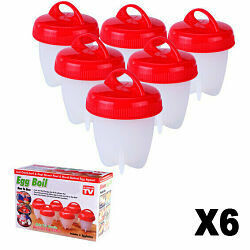 Plastic Egg boil (6 unidades)
