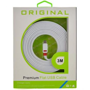 Cable Micro USB 3 metros