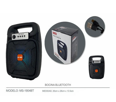 Bocina Bluetooth 15W USB+SD+FM