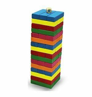 Jenga de colores (55 piezas)