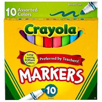 Crayola Marcadores (10 unidades)