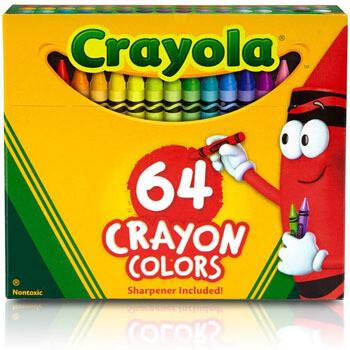 Crayola 64 colores + sacapuntas incluido