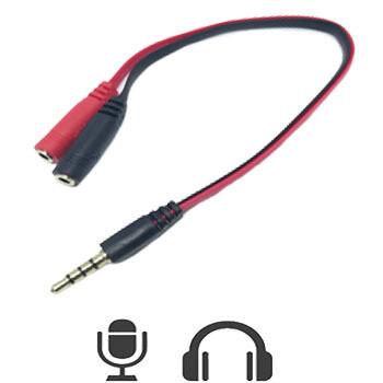 Adaptador de Audio y Microfono 3.5mm