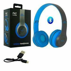 Audifonos Bluetooth SD+FM Azul
