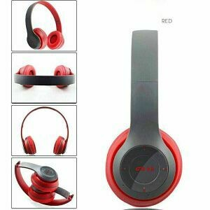 Audifonos Bluetooth SD+FM Rojo