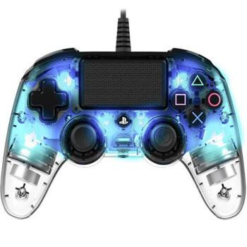 PS4 Control con cable iluminado Azul Nacon