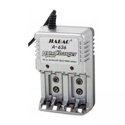 Cargador de baterias recargables AA y AAA