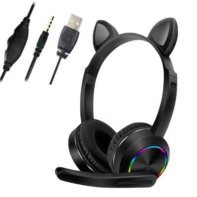 Audifonos RGB con Orejas y Microfono