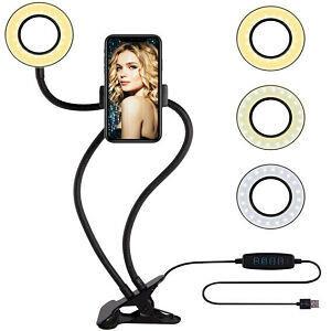 Aro de Luz LED + Sostenedor de celular