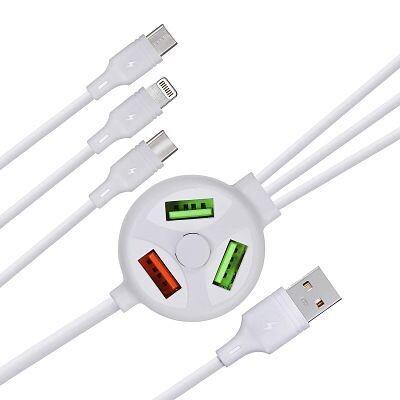 Cable y HUB USB 6 en 1