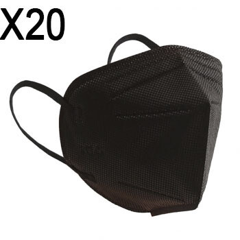 Mascarillas KN95 Negra (x20)